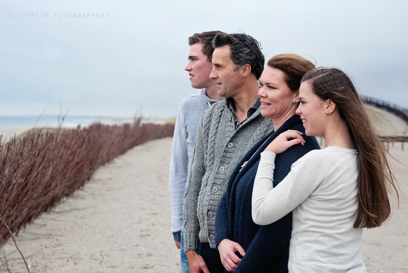 familie portret strand