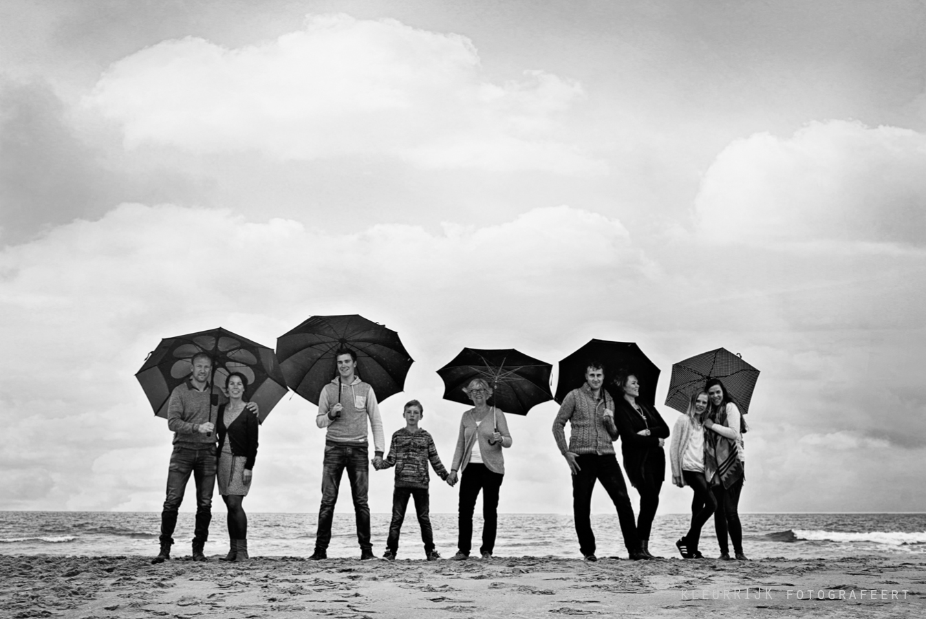 familie foto shoot strand