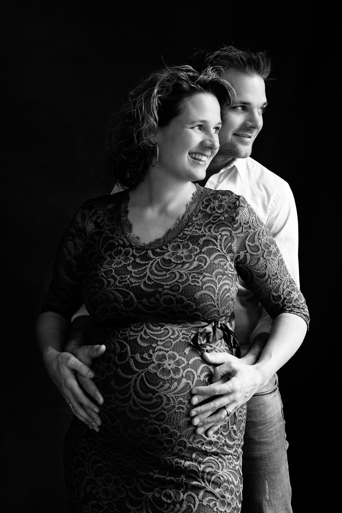 zwanger op de foto
